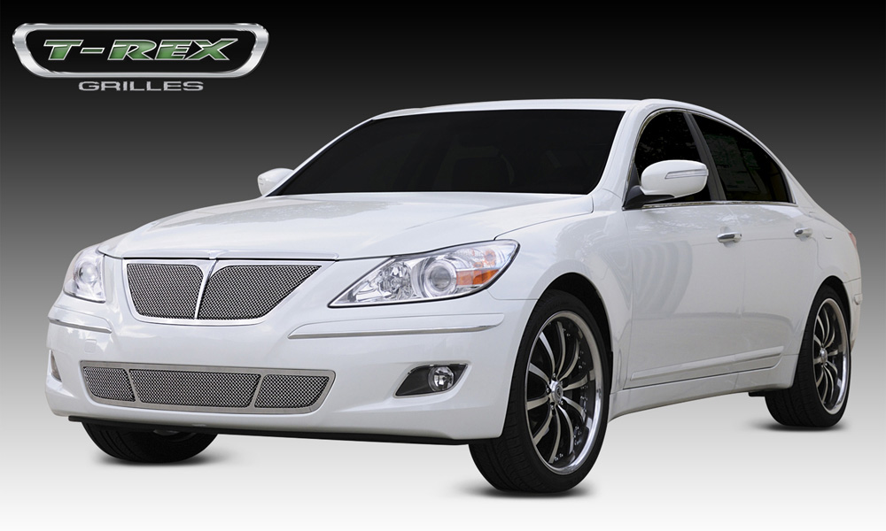 Genesis Sedan Grille 09-11 Hyundai Genesis Sedan Stainless Polished Upper Class Series T-REX Grilles - 54494