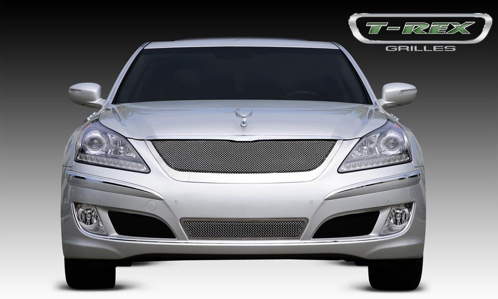 Equus Signature Grille 10-13 Hyundai Equus Signature Stainless Polished Upper Class Series T-REX Grilles - 54496
