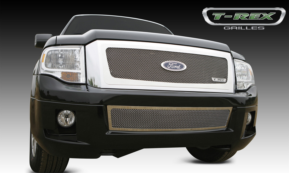 Expdition Grille 07-14 Ford Expdition Stainless Polished Upper Class Series T-REX Grilles - 54594