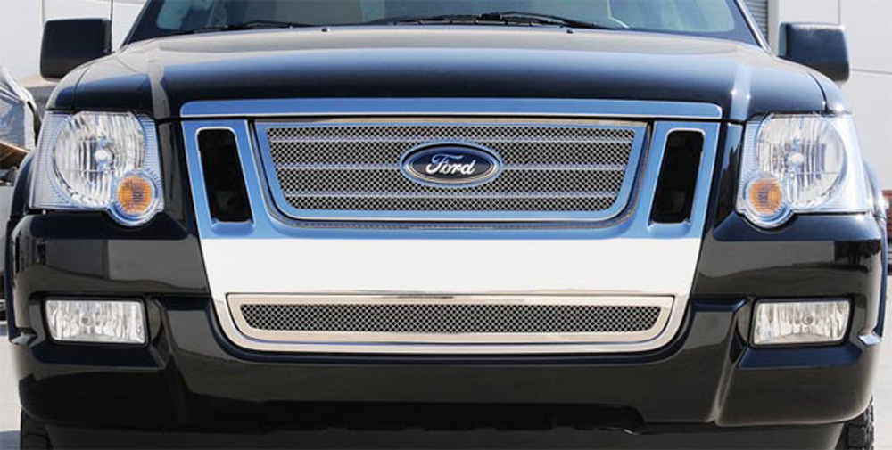 Explorer Grille 06-10 Ford Explorer SportTrac Stainless Polished Upper Class Series T-REX Grilles - 54662