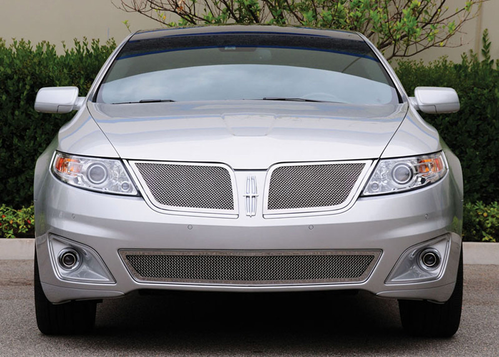 MKS Grille 09-12 Lincoln MKS Stainless Polished 2 Piece Upper Class Series T-REX Grilles - 54718
