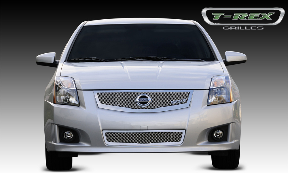 Sentra Grille 08-12 Nissan Sentra 2.0 Stainless Polished Upper Class Series T-REX Grilles - 54765