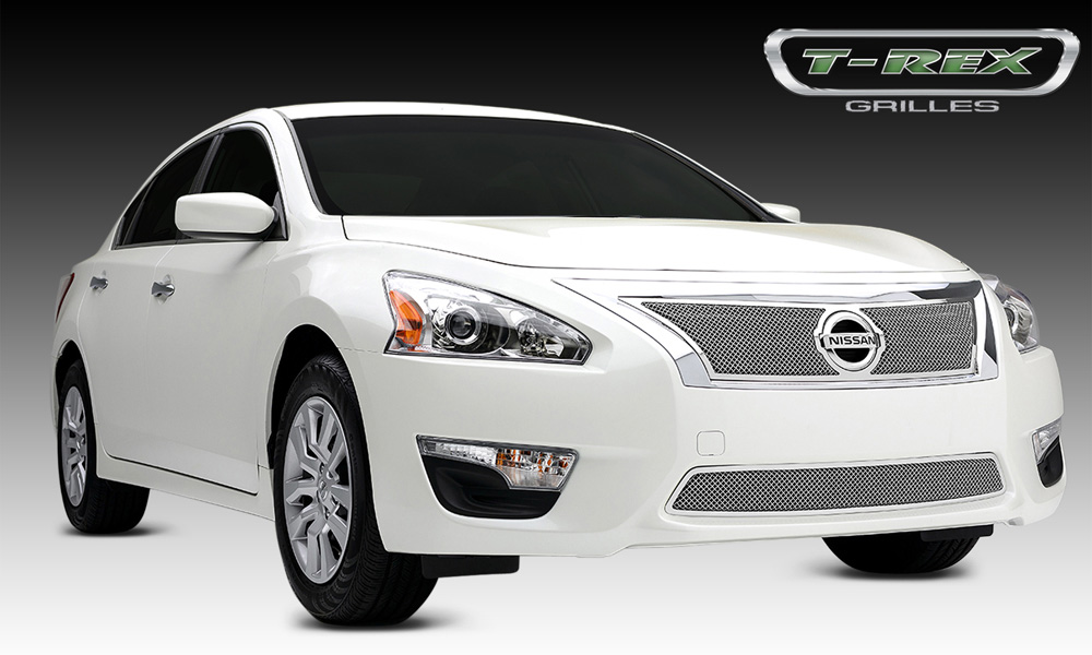 Altima 2.5 S Grille 13-15 Nissan Altima 2.5 S Stainless Polished Upper Class Series T-REX Grilles - 54768