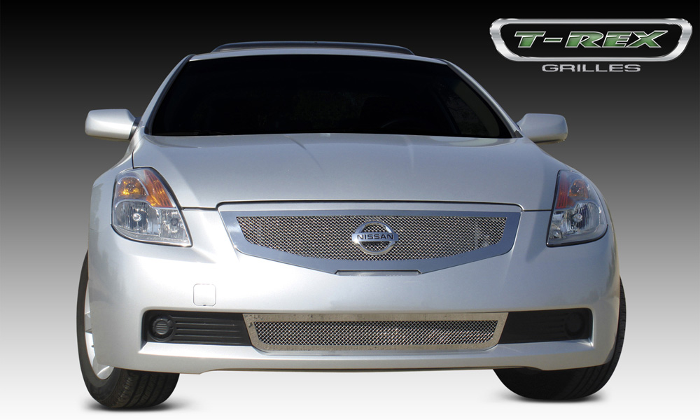 Altima Grille 08-09 Nissan Altima Coupe Stainless Polished Upper Class Series T-REX Grilles - 54769