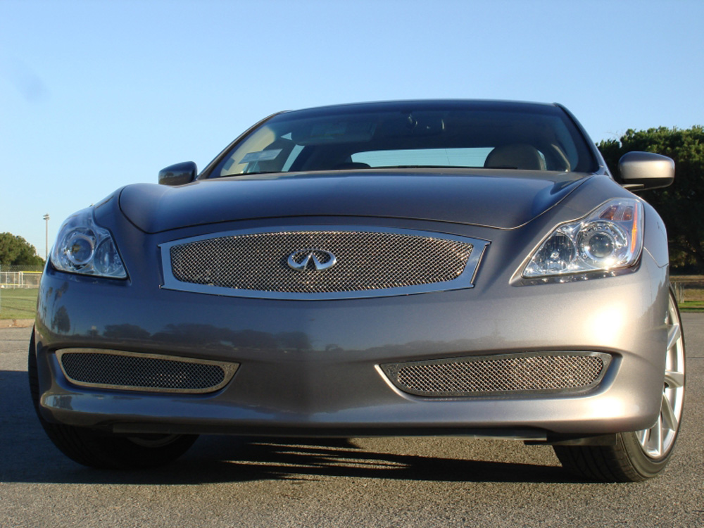 G-37 Coupe Grille 08-14 Infiniti G-37 Coupe Stainless Polished Upper Class Series T-REX Grilles - 54810