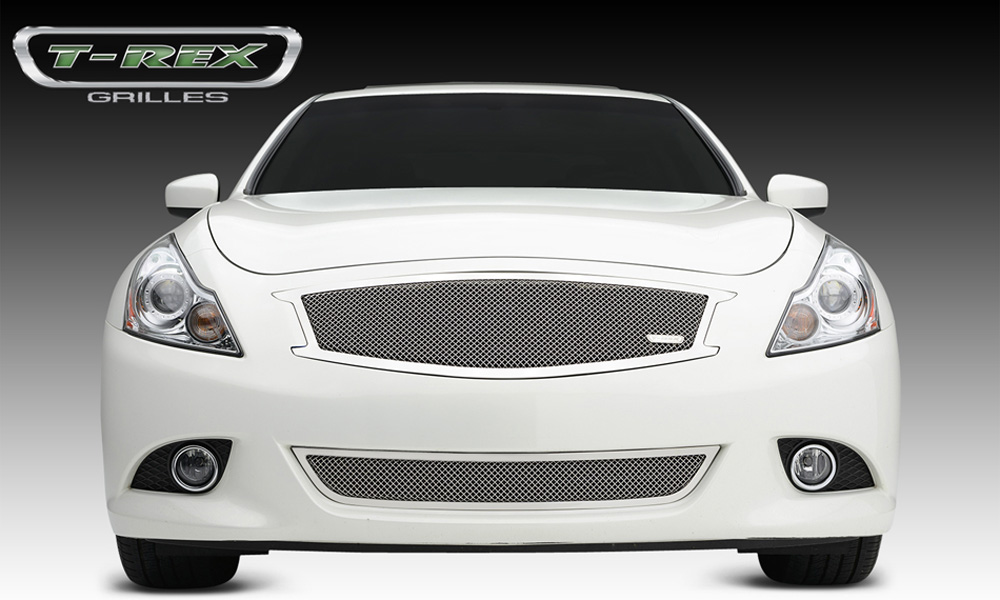 G-37 Sedan Grille 11-13 Infiniti G-37 Sedan W/O Logo Cut Stainless Polished 1 Piece Upper Class Series T-REX Grilles - 54812
