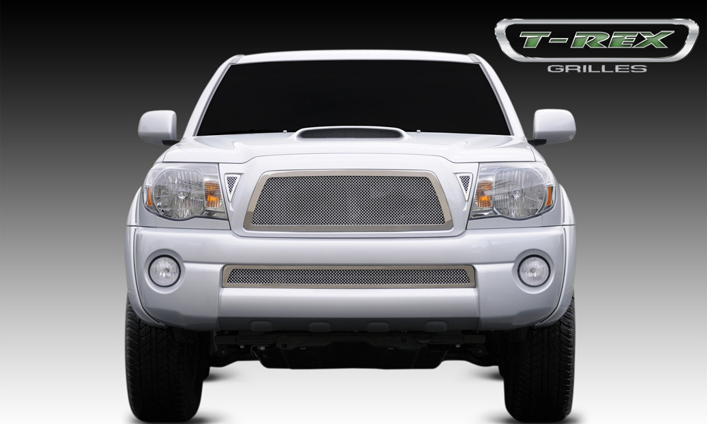 Tacoma Grille 05-10 Toyota Tacoma Stainless Polished Upper Class Series T-REX Grilles - 54895