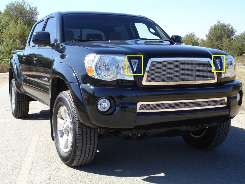 Tacoma Grille 11-11 Toyota Tacoma Stainless Polished 2 Piece Upper Class Series T-REX Grilles - 54937