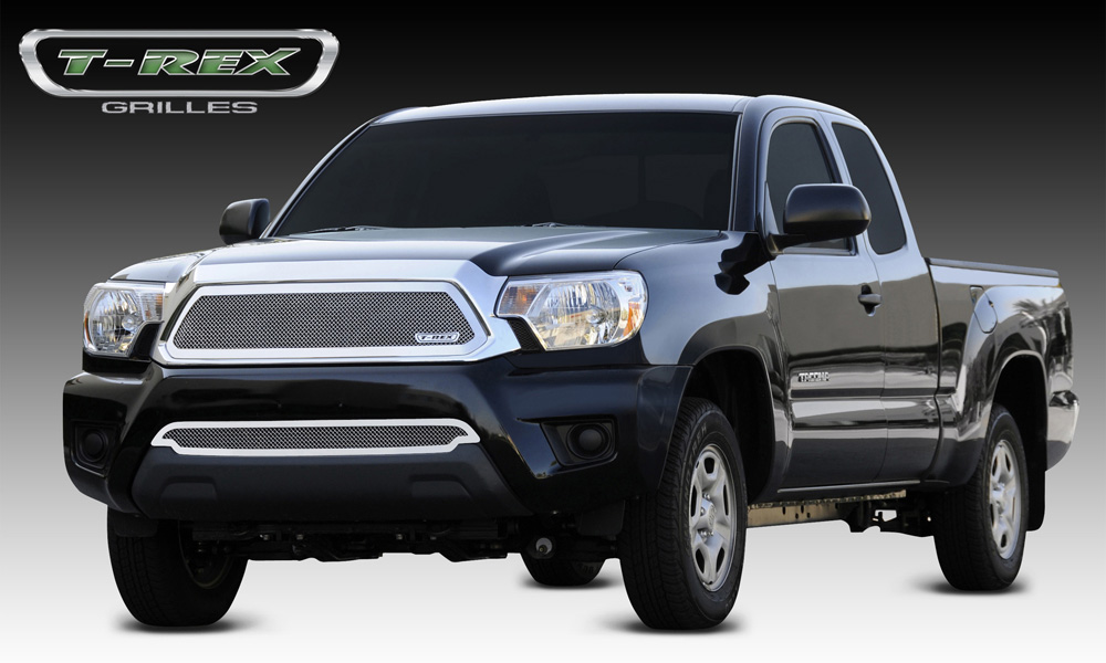 Tacoma Grille 12-15 Toyota Tacoma Stainless Polished Upper Class Series T-REX Grilles - 54938