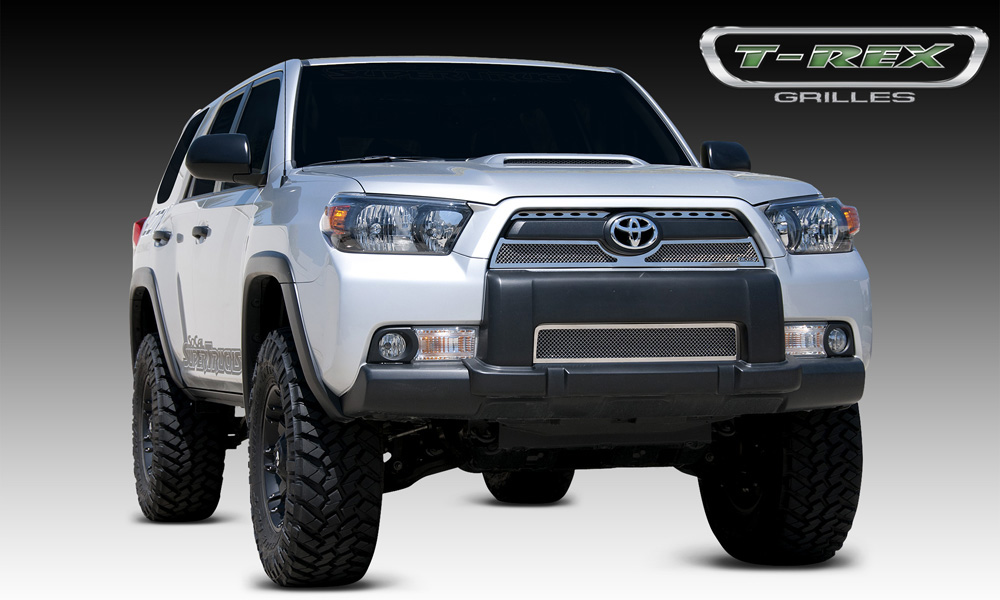 4Runner Grille 10-13 Toyota 4Runner Stainless Polished 3 Piece Upper Class Series T-REX Grilles - 54947