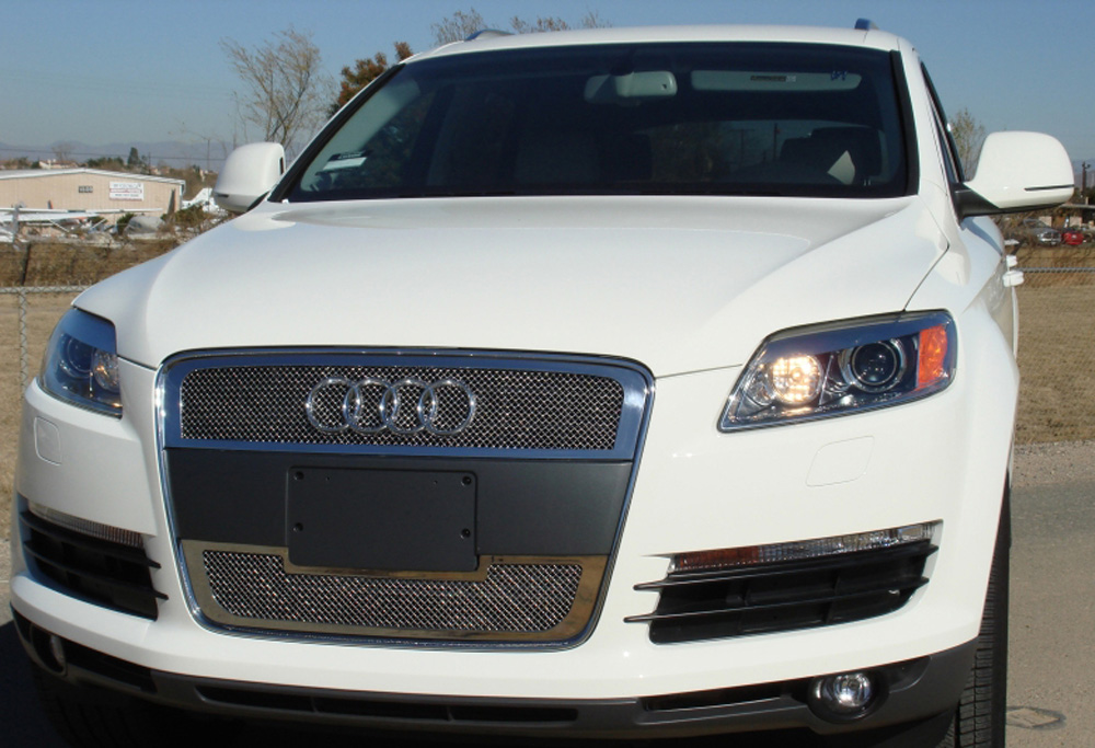 Q7 Grille 07-08 Audi Q7 Stainless Polished 2 Piece Upper Class Series T-REX Grilles - 54989