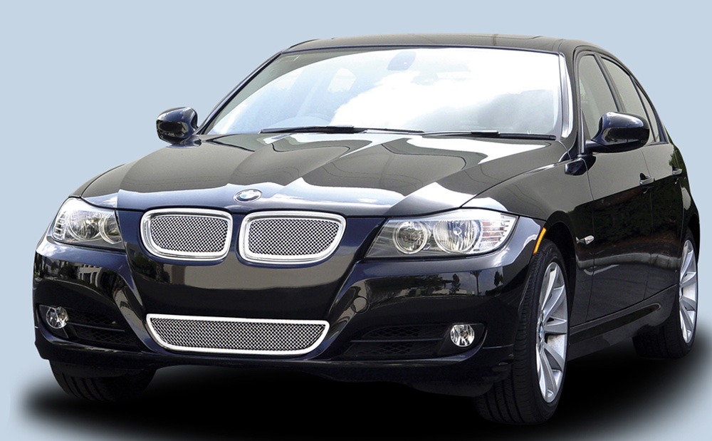 BMW 3 Series Grille 09-11 BMW 3 Series Stainless Polished 2 Piece Upper Class Series T-REX Grilles - 54992