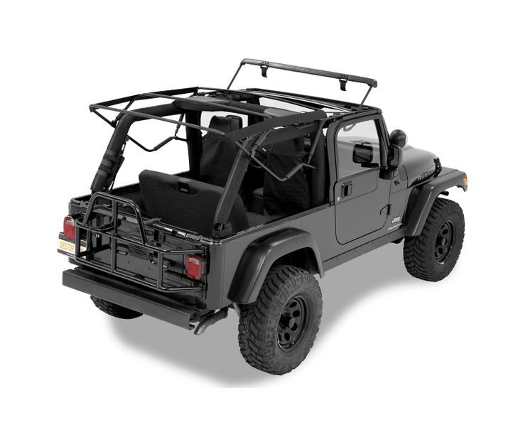 Jeep Tj Soft Top Replacement Bow Kit 04 06 Wrangler Unlimited Black Bestop