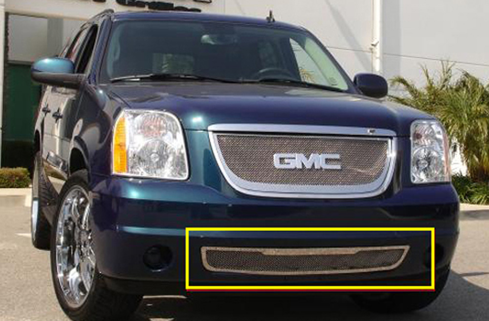 Yukon Bumper Grille 07-14 GMC Yukon Stainless Polished Upper Class Series T-REX Grilles - 55172