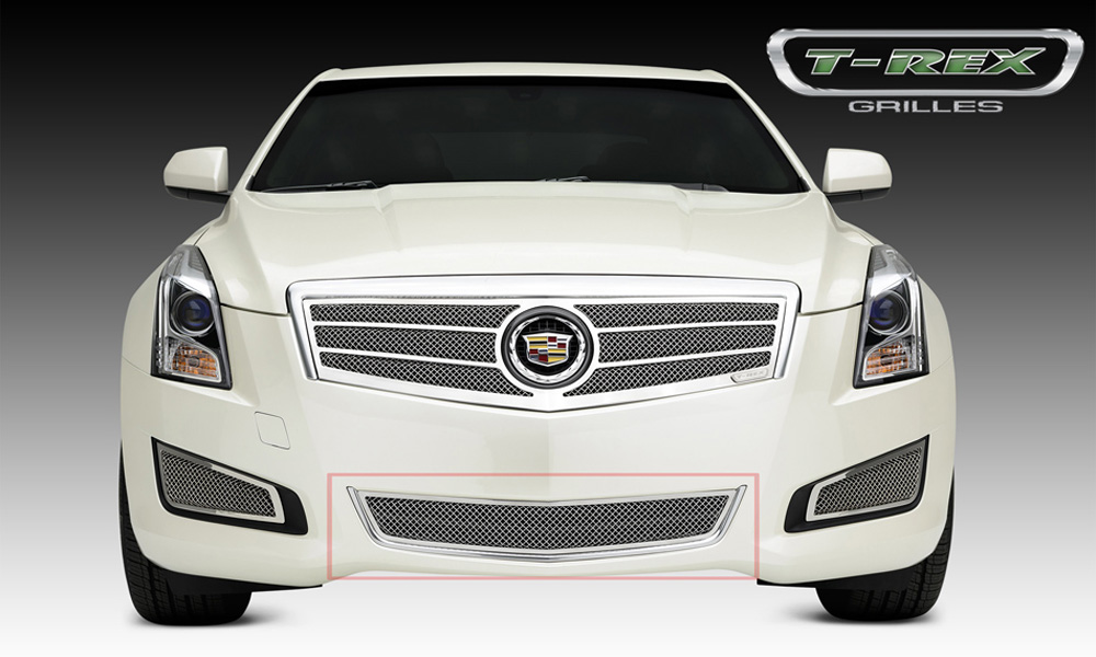 ATS Bumper Grille 13-14 Cadillac ATS Stainless Polished 1 Piece Upper Class Series T-REX Grilles - 55177