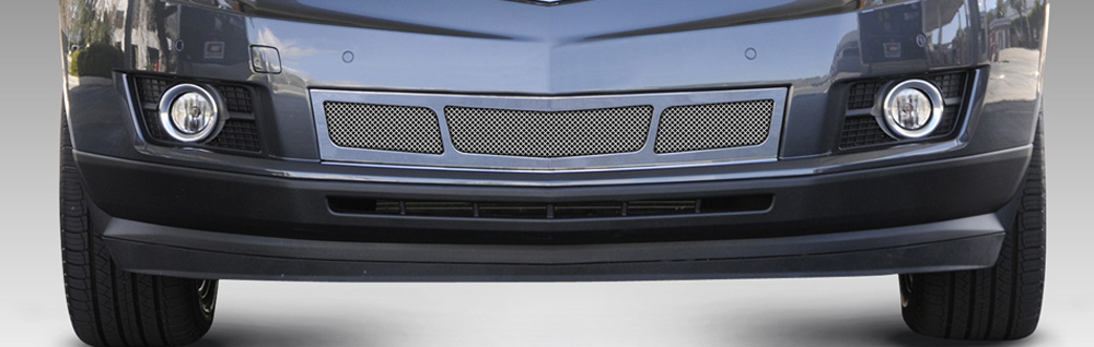 SRX Bumper Grille Overlay10-16 Cadillac SRX 3 Window Design Stainless Polished Upper Class Series T-REX Grilles - 55187