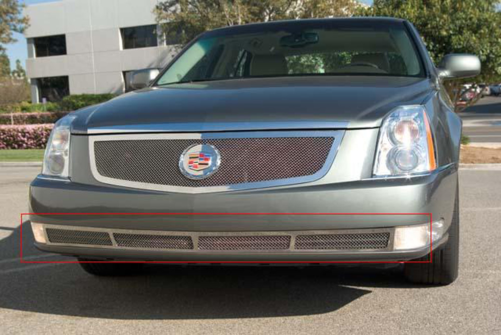 DTS Bumper Grille 06-11 Cadillac DTS Stainless Polished Upper Class Series T-REX Grilles - 55188