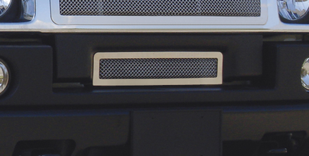 H2 Bumper Grille 03-07 Hummer H2 Stainless Polished Upper Class Series T-REX Grilles - 55290