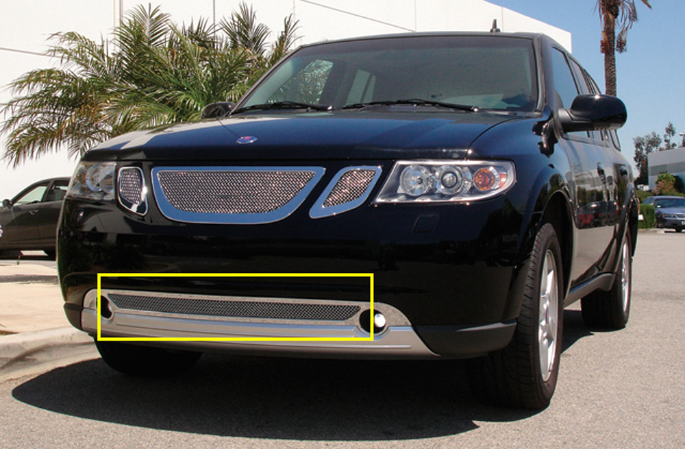 Saab Bumper Grille 07-09 Saab 9-7X Stainless Polished Upper Class Series T-REX Grilles - 55305