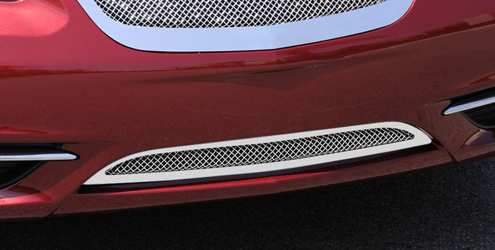 Chrysler 200 Bumper Grille 11-14 Chrysler 200 Stainless Polished Stainless Upper Class Series T-REX Grilles - 55408