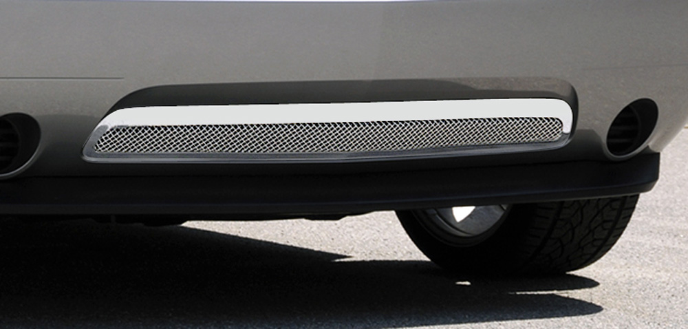Challenger Bumper Grille 11-14 Dodge Challenger Stainless Polished Upper Class Series T-REX Grilles - 55416