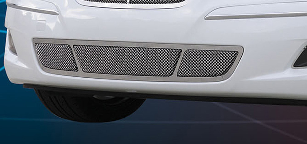 Genesis Sedan Bumper Grille 09-11 Hyundai Genesis Sedan W/O Tech Stainless Polished Upper Class Series T-REX Grilles - 55494