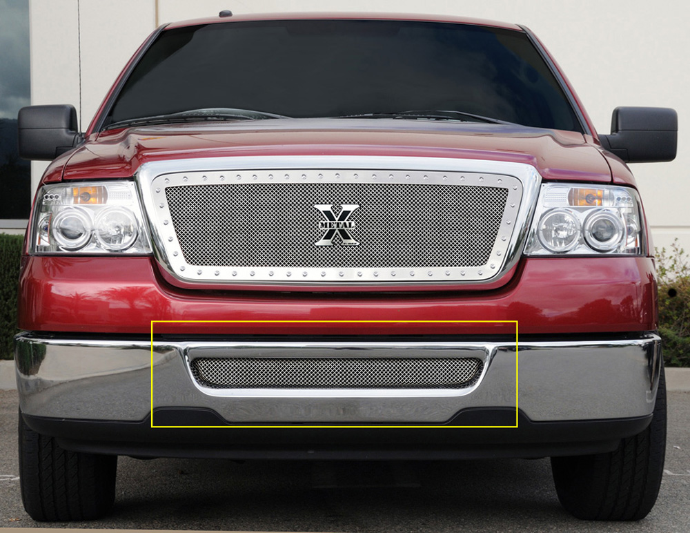 F-150 Bumper Grille 04-05 Ford F-150 Stainless Polished Upper Class Series T-REX Grilles - 55552