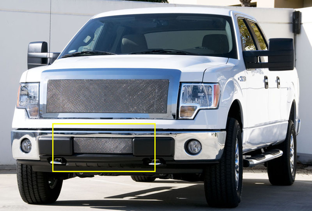F-150 Bumper Grille 09-13 Ford F-150 Stainless Polished Upper Class Series T-REX Grilles - 55569