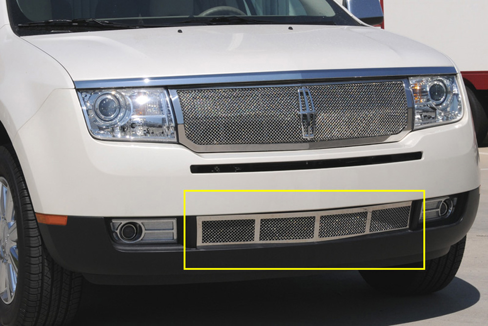 MKX Bumper Grille 07-10 Lincoln MKX Stainless Polished Upper Class Series T-REX Grilles - 55717