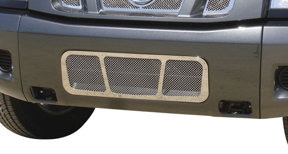 Titan Bumper Grille 04-14 Nissan Titan Stainless Polished Upper Class Series T-REX Grilles - 55780
