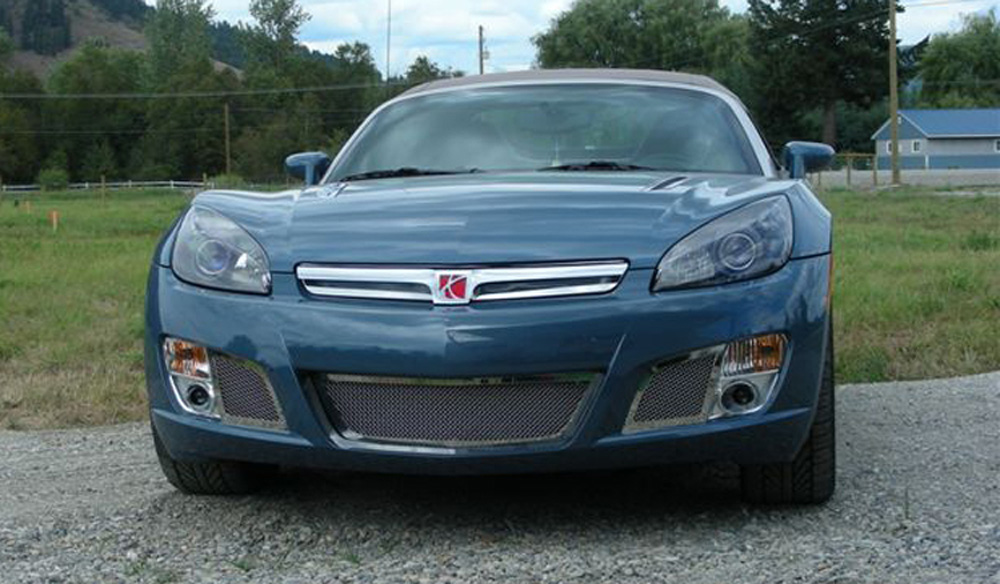 Sky Red Line Bumper Grille 07-09 Saturn Sky Red Line Stainless Polished 2 Piece Upper Class Series T-REX Grilles - 55806