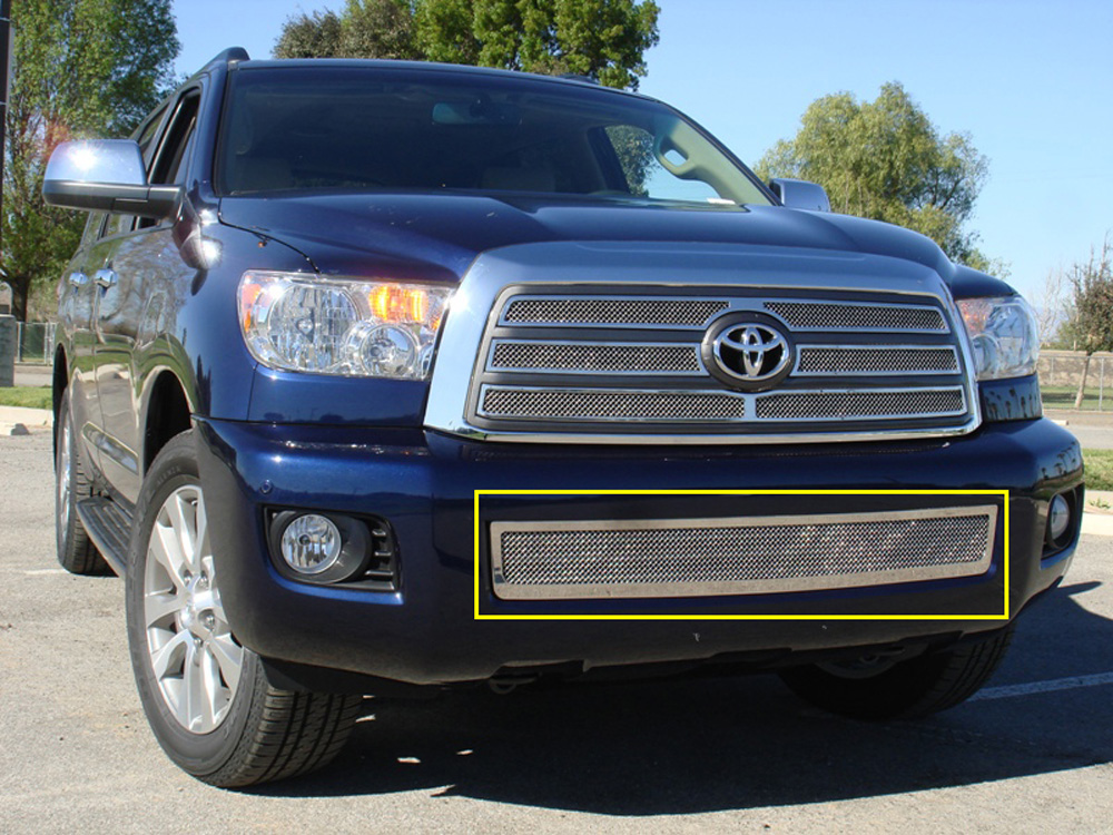 Sequoia Bumper Grille 08-14 Toyota Sequoia Stainless Polished Upper Class Series T-REX Grilles - 55902