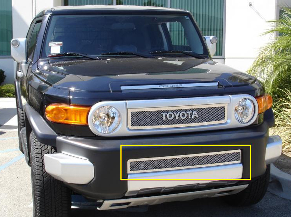 FJ Cruiser Bumper Grille 07-14 Toyota FJ Cruiser Stainless Polished Upper Class Series T-REX Grilles - 55932