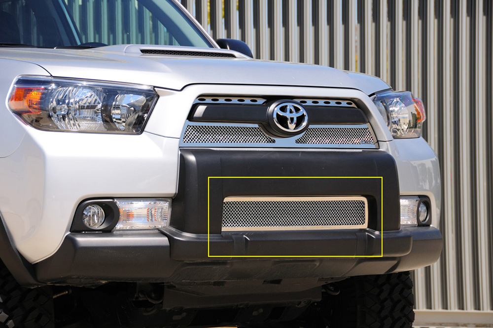 4Runner Bumper Grille 10-13 Toyota 4Runner Stainless Polished Upper Class Series T-REX Grilles - 55947