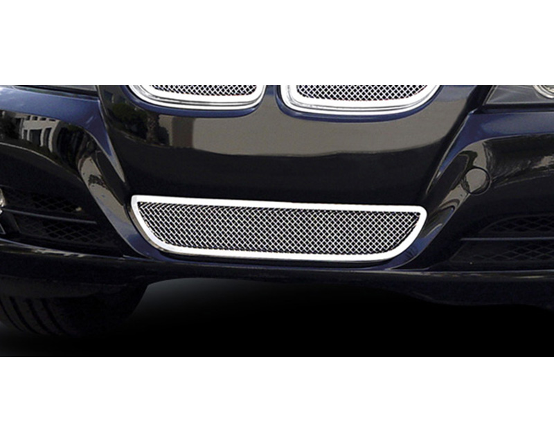 BMW Bumper Grille 09-11 BMW 3 Series Stainless Polished Upper Class Series T-REX Grilles - 55992