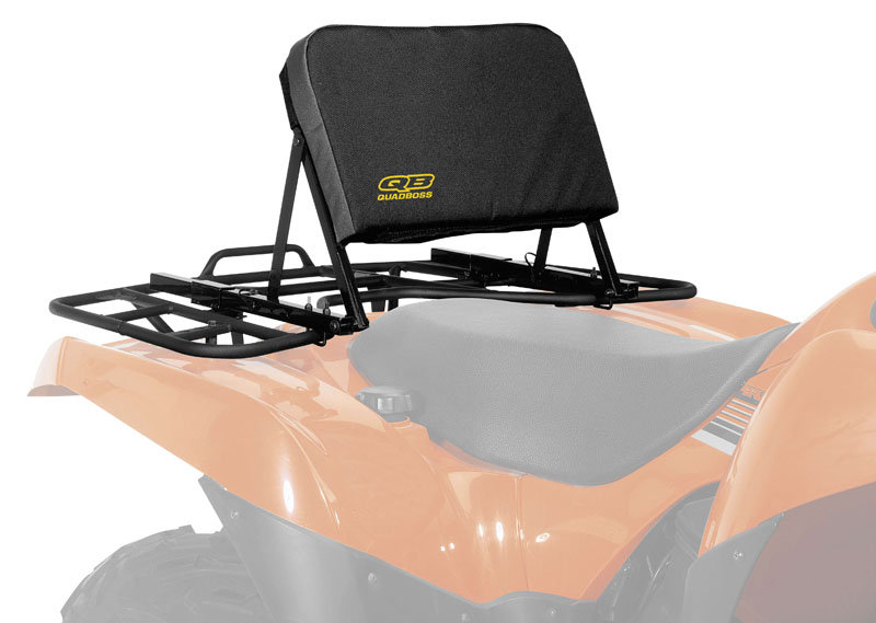 QuadBoss ATV Backrest Black - TX318