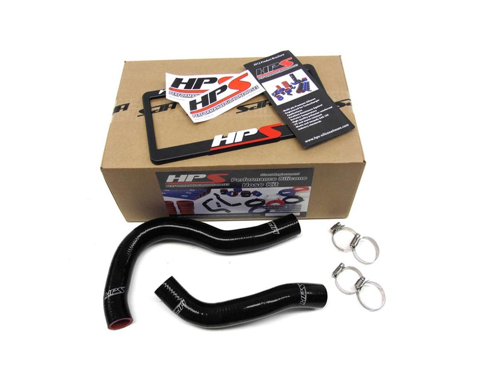 HPS Black Reinforced Silicone Radiator Hose Kit Coolant for Acura 02-06 RSX - 57-1001-BLK