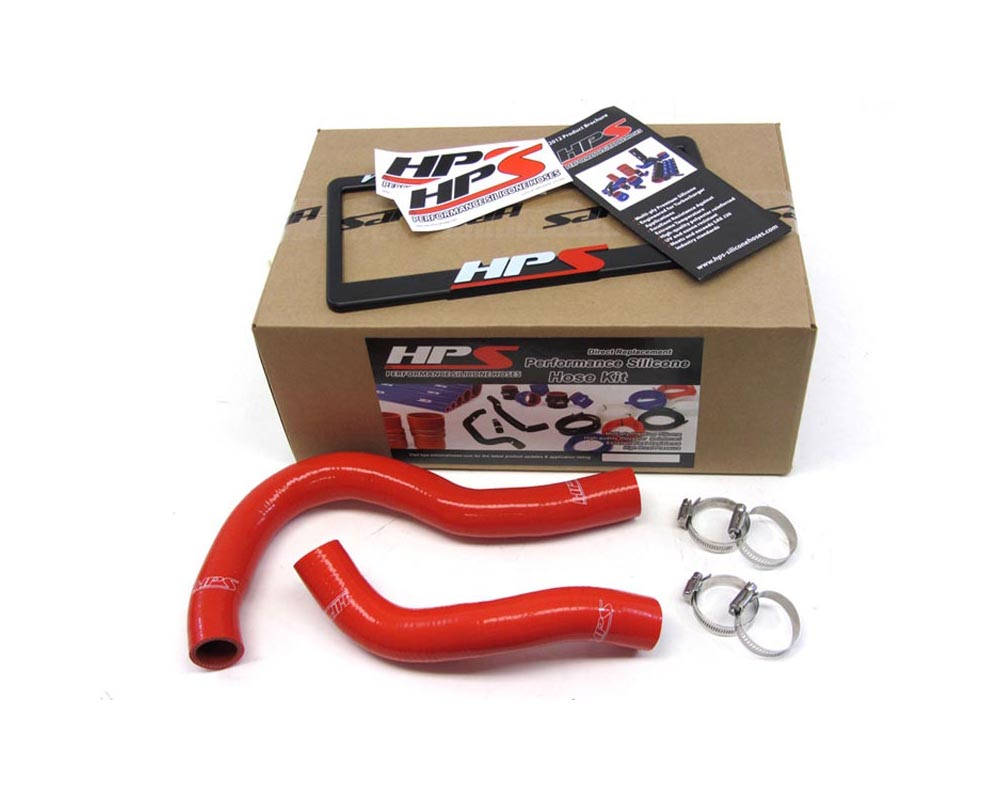 HPS Red Reinforced Silicone Radiator Hose Kit Coolant for Acura 02-06 RSX - 57-1001-RED