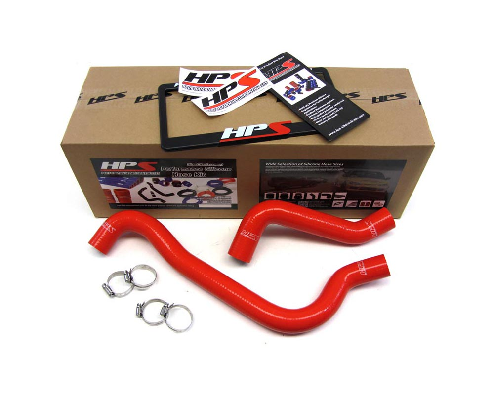 HPS Red Reinforced Silicone Radiator Hose Kit Coolant for Dodge 03-05 Neon SRT-4 Turbo - 57-1009-RED