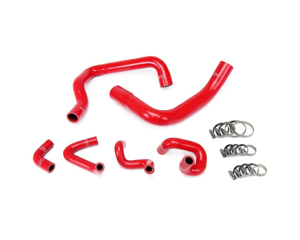 HPS Red Reinforced Silicone Radiator and Heater Hose Kit Coolant for Ford 86-93 Mustang GT / Cobra - 57-1010-RED