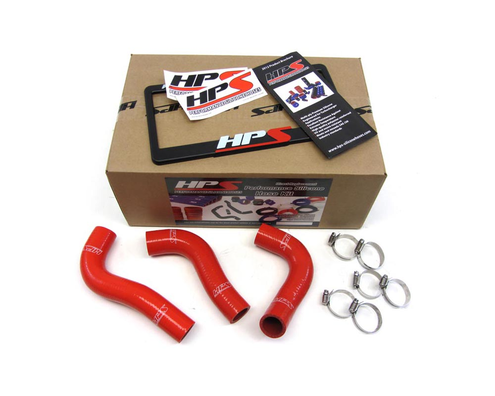 HPS Red Reinforced Silicone Radiator Hose Kit Coolant for Mazda 94-97 Miata - 57-1030-RED