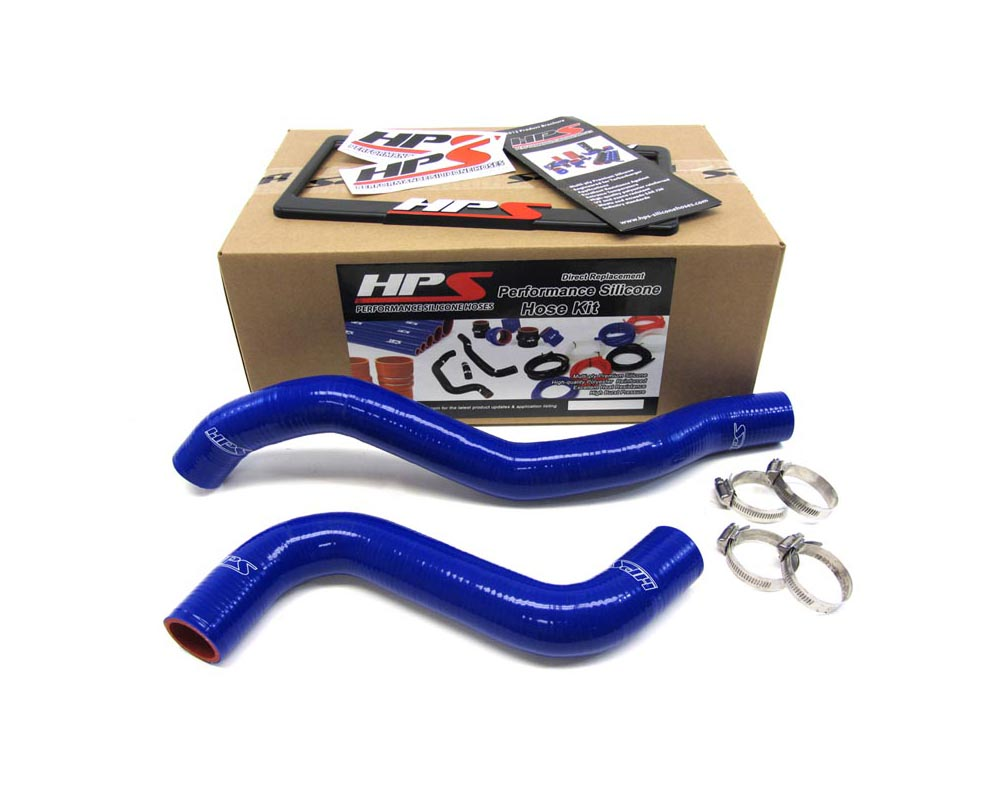 HPS Blue Reinforced Silicone Radiator Hose Kit Coolant for Mitsubishi 95-99 Eclipse Turbo - 57-1039-BLUE