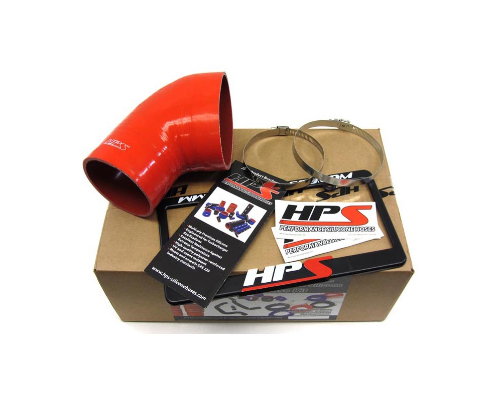 HPS Red Reinforced Silicone Post MAF Air Intake Hose Kit for BMW 01-06 E46 M3 - 57-1078-RED-1