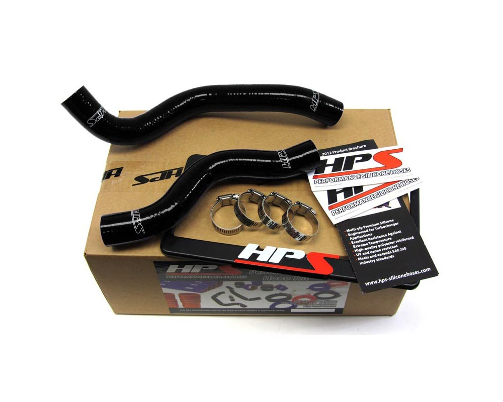 HPS Black Reinforced Silicone Radiator Hose Kit Coolant for Honda 12-15 Civic Non Si 1.8L - 57-1200-BLK