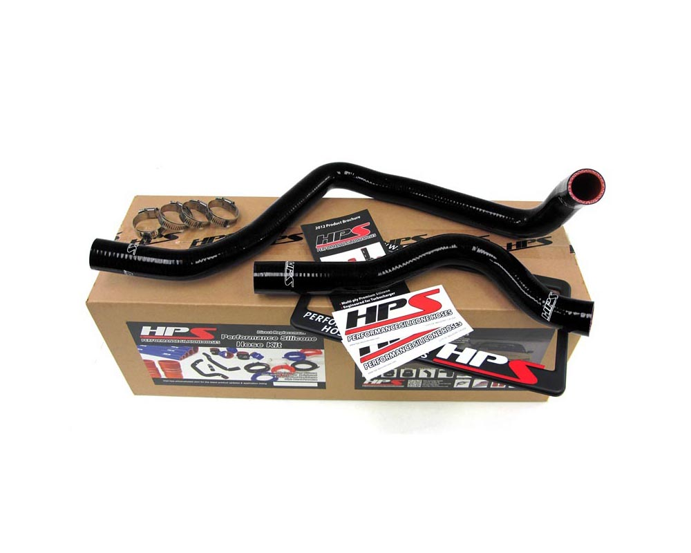 HPS Black Reinforced Silicone Radiator Hose Kit Coolant for Acura 97-01 Integra Type-R - 57-1207-BLK