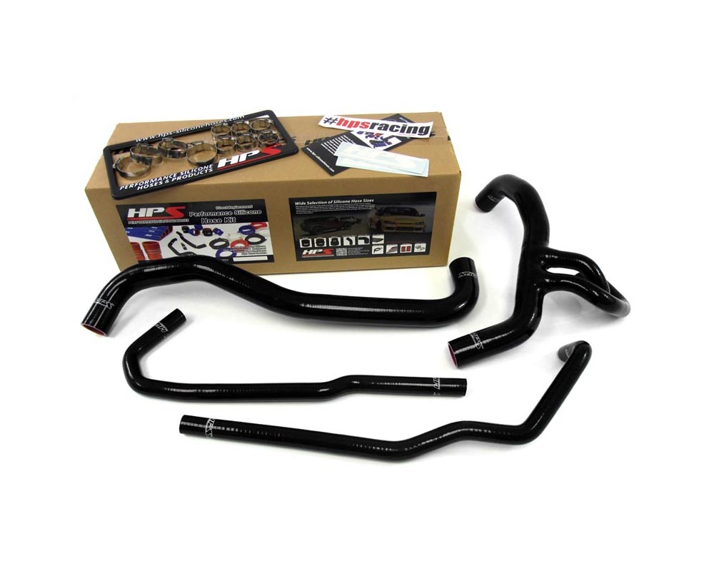 HPS Black Reinforced Silicone Radiator Hose Kit Coolant for Ford 10-13 F150 SVT Raptor 6.2L V8 - 57-1273-BLK
