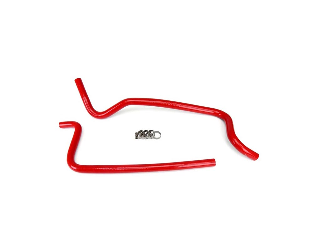 HPS Red Reinforced Silicone Heater Hose Kit for Jeep 02-06 Wrangler TJ 4.0L Left Hand Drive - 57-1283-RED