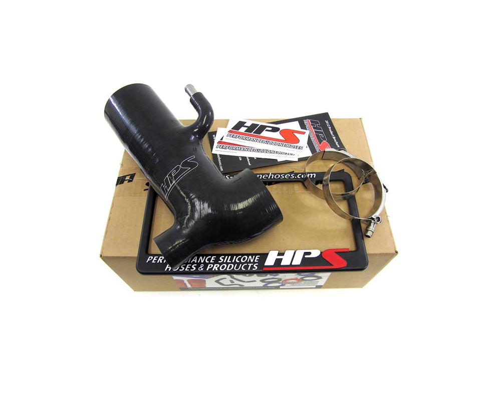 HPS Black Reinforced Silicone Post MAF Air Intake Hose Kit - Retain Stock Sound Tube for Scion 13-16 FRS - 57-1294-BLK-1