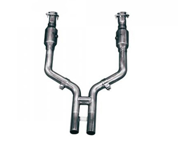 """Kooks 3"""" Inlet 2 3/4"""" Outlet H Pipe with Catalytic Converters Ford Mustang GT 5.0L 11-13 - 11413500"""