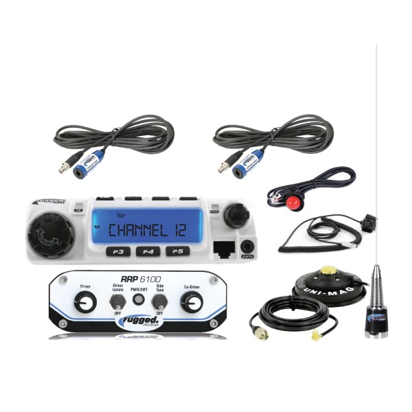 Rugged Radios RRP6100 2-Place Race System with 60-Watt Radio Kit